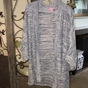 Sweaters - Plus size 18/20 cardigan blue and white super soft